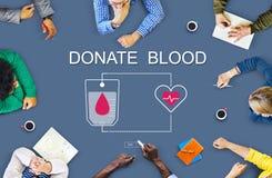 Η δωρεά αίματος δίνει την έννοια μετάγγισης ζωής Στοκ εικόνα με δικαίωμα ελεύθερης χρήσης
