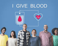 Η δωρεά αίματος δίνει την έννοια μετάγγισης ζωής Στοκ Φωτογραφία