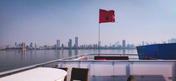 Η όμορφη άποψη από το σκάφος στοκ φωτογραφία με δικαίωμα ελεύθερης χρήσης