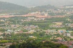 Η όμορφη άποψη από khao-Khad βλέπει τον πύργο, οι τουρίστες μπορούν να απολαύσουν το θόριο στοκ φωτογραφία