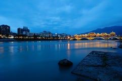 Η όμορφη άποψη νύχτας σε Yaan στοκ φωτογραφίες