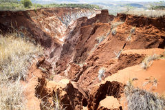 Η όμορφη άποψη της διάβρωσης φαραγγιών αυλακώνει, στην επιφύλαξη Tsingy Ankarana, Μαδαγασκάρη Στοκ εικόνες με δικαίωμα ελεύθερης χρήσης