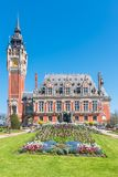Η όμορφη αίθουσα πόλεων Calais στοκ εικόνες
