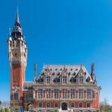 Η όμορφη αίθουσα πόλεων Calais στοκ φωτογραφία με δικαίωμα ελεύθερης χρήσης