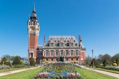 Η όμορφη αίθουσα πόλεων Calais στοκ εικόνα με δικαίωμα ελεύθερης χρήσης