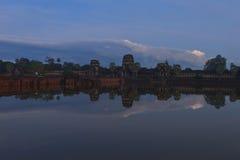 Η όμορφη ανατολή σε Ankor Wat, Siem συγκεντρώνει την Καμπότζη Στοκ Εικόνα