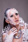 Η όμορφη γυναίκα με καλλιτεχνικό δημιουργικό αποτελεί Στοκ φωτογραφία με δικαίωμα ελεύθερης χρήσης