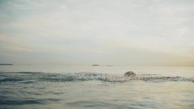 Η όμορφη γυναίκα με το προκλητικό σώμα κολυμπά στον ποταμό φιλμ μικρού μήκους