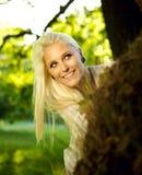 Η όμορφη δορά παιχνιδιού γυναικών - και - επιδιώκει Στοκ εικόνες με δικαίωμα ελεύθερης χρήσης