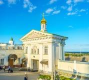 Η όμορφη είσοδος Pochayiv Lavra Στοκ Εικόνα