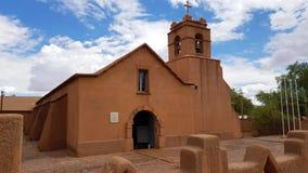 Η όμορφη εκκλησία του SAN Pedro Atacama, Χιλή στοκ εικόνες