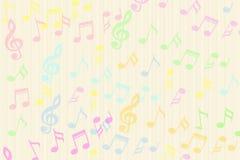 Η όμορφη ζωηρόχρωμη μουσική σημειώνει το υπόβαθρο Στοκ Εικόνα