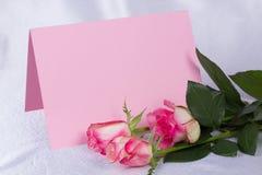 η όμορφη κάρτα αυξήθηκε κεί& Στοκ Εικόνες