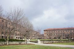 Η όμορφη λεωφόρος Purdue του πανεπιστημίου Purdue Στοκ Φωτογραφία