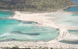 η όμορφη λιμνοθάλασσα Balos στην Κρήτη στην Ελλάδα Στοκ εικόνες με δικαίωμα ελεύθερης χρήσης