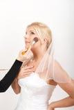η όμορφη νυφική νύφη αποτελ&ep Στοκ Φωτογραφίες