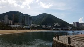 Η όμορφη προοπτική, απωθεί τον κόλπο, Χονγκ Κονγκ στοκ εικόνα