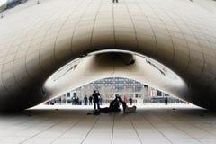 Η όμορφη πύλη σύννεφων στο Millennium Park, Σικάγο, Ιλλινόις Στοκ Φωτογραφίες