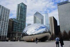 Η όμορφη πύλη σύννεφων στο Millennium Park, Σικάγο, Ιλλινόις Στοκ φωτογραφία με δικαίωμα ελεύθερης χρήσης