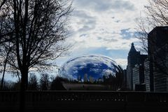 Η όμορφη πύλη σύννεφων στο Millennium Park, Σικάγο, Ιλλινόις Στοκ Εικόνες