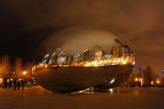 Η όμορφη πύλη σύννεφων στο Millennium Park, Σικάγο, Ιλλινόις Στοκ Εικόνα