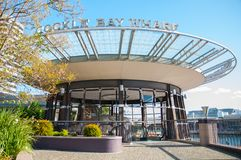 Η όμορφη στέγη σχεδίου κύκλων της Cockle αποβάθρας κόλπων, είναι λιμενικός τόπος συναντήσεως λειτουργίας Sydney's αρχαιότερος στοκ φωτογραφίες με δικαίωμα ελεύθερης χρήσης
