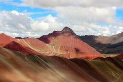 Η όμορφη χρωματισμένη σειρά βουνών ουράνιων τόξων Στοκ φωτογραφία με δικαίωμα ελεύθερης χρήσης