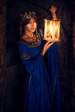 Η όμορφη Eleanor Aquitaine, της δούκισσας και της βασίλισσας της Αγγλίας και της Γαλλίας στους υψηλούς Μεσαίωνες στοκ εικόνα