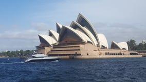 Η Όπερα του Σίδνεϊ σε NSW Αυστραλία στοκ φωτογραφία με δικαίωμα ελεύθερης χρήσης