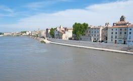Η όχθη ποταμού Ροδανού Στοκ Εικόνες