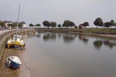 Η όχθη ποταμού στο Saint-Valery-sur-Somme (Γαλλία) Στοκ Εικόνες