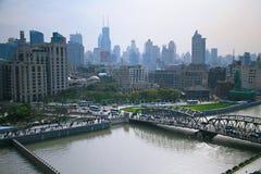 Η όχθη ποταμού του ποταμού Whampoa στη Σαγκάη στοκ εικόνα με δικαίωμα ελεύθερης χρήσης