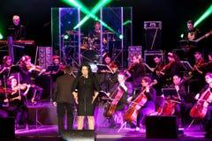 Η Alena Lisnyak τραγουδά στοκ φωτογραφία με δικαίωμα ελεύθερης χρήσης