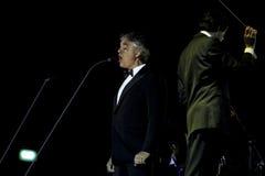 Η Andrea Bocelli αποδίδει στη συναυλία Στοκ Εικόνα