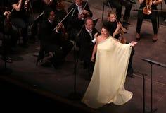 Η Anna Netrebko theatre des champs στα elysees, Παρίσι, μπορεί 10, το 2015 Στοκ Εικόνες