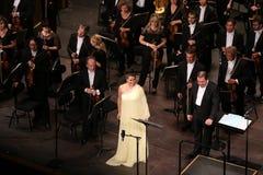 Η Anna Netrebko theatre des champs στα elysees, Παρίσι, μπορεί 10, το 2015 Στοκ εικόνα με δικαίωμα ελεύθερης χρήσης