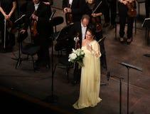 Η Anna Netrebko theatre des champs στα elysees, Παρίσι, μπορεί 10, το 2015 Στοκ Εικόνα
