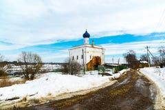 Η Annunciation εκκλησία στην πόλη Tutaev, Ρωσία Στοκ Φωτογραφίες