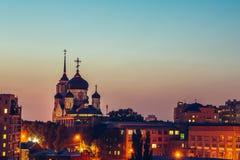 Η Annunciation Ορθόδοξη Εκκλησία καθεδρικών ναών στο κέντρο της πόλης Voronezh, Ρωσία Στοκ Εικόνες