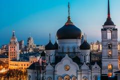 Η Annunciation Ορθόδοξη Εκκλησία καθεδρικών ναών στο κέντρο της πόλης Voronezh Στοκ Φωτογραφία