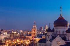 Η Annunciation Ορθόδοξη Εκκλησία καθεδρικών ναών στο κέντρο της πόλης Voronezh Στοκ Εικόνες