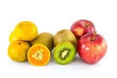 Η Apple, το ακτινίδιο και το πορτοκάλι απομονώνουν Στοκ φωτογραφία με δικαίωμα ελεύθερης χρήσης