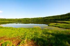 Η arxan λίμνη ουρανού Στοκ Εικόνες