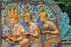 η banteay λίμνη της Καμπότζης angkor lotuses συγκεντρώνει siem το ναό srey Στοκ φωτογραφία με δικαίωμα ελεύθερης χρήσης