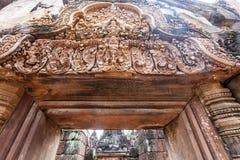 η banteay λίμνη της Καμπότζης angkor lotuses συγκεντρώνει siem το ναό srey Στοκ εικόνες με δικαίωμα ελεύθερης χρήσης