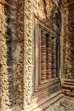 Η bas-ανακούφιση, αρχαίος ναός TA Prohm, Angkor Thom, Siem συγκεντρώνει, Καμπότζη Στοκ φωτογραφίες με δικαίωμα ελεύθερης χρήσης