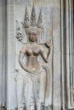 Η bas-ανακούφιση του ναού Angkor Wat σε Siem συγκεντρώνει, Καμπότζη Στοκ εικόνες με δικαίωμα ελεύθερης χρήσης
