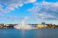 Η Chuvash δημοκρατία, Ρωσία. Κεφάλαιο Chuvashiya η πόλη Cheboksary Στοκ φωτογραφία με δικαίωμα ελεύθερης χρήσης