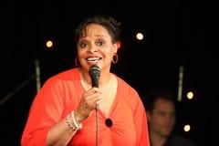Η Deborah J. Carter απέδωσε στη VIP λέσχη του Ζάγκρεμπ στοκ εικόνα