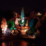 Η Disney τή νύχτα Στοκ φωτογραφία με δικαίωμα ελεύθερης χρήσης